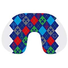 Minecraft Ugly Holiday Christmas Travel Neck Pillows