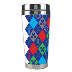 Minecraft Ugly Holiday Christmas Stainless Steel Travel Tumblers