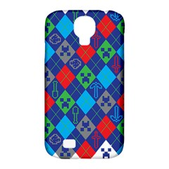 Minecraft Ugly Holiday Christmas Samsung Galaxy S4 Classic Hardshell Case (PC+Silicone)