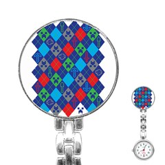 Minecraft Ugly Holiday Christmas Stainless Steel Nurses Watch