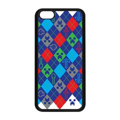 Minecraft Ugly Holiday Christmas Apple iPhone 5C Seamless Case (Black)