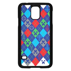 Minecraft Ugly Holiday Christmas Samsung Galaxy S5 Case (Black)