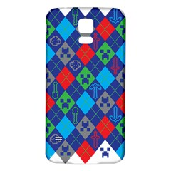 Minecraft Ugly Holiday Christmas Samsung Galaxy S5 Back Case (White)