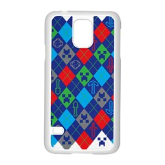 Minecraft Ugly Holiday Christmas Samsung Galaxy S5 Case (White)