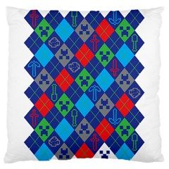 Minecraft Ugly Holiday Christmas Large Flano Cushion Case (One Side)
