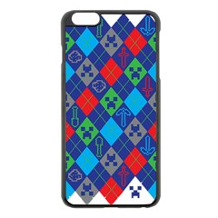 Minecraft Ugly Holiday Christmas Apple iPhone 6 Plus/6S Plus Black Enamel Case
