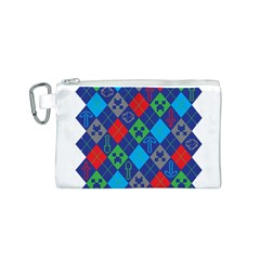 Minecraft Ugly Holiday Christmas Canvas Cosmetic Bag (S)