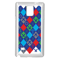 Minecraft Ugly Holiday Christmas Samsung Galaxy Note 4 Case (White)