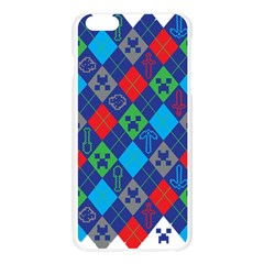 Minecraft Ugly Holiday Christmas Apple Seamless iPhone 6 Plus/6S Plus Case (Transparent)