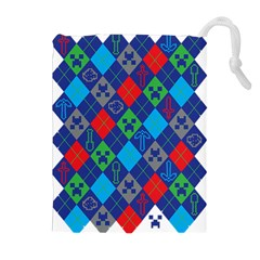 Minecraft Ugly Holiday Christmas Drawstring Pouches (Extra Large)
