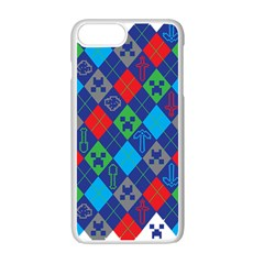 Minecraft Ugly Holiday Christmas Apple iPhone 7 Plus White Seamless Case