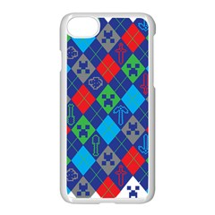 Minecraft Ugly Holiday Christmas Apple iPhone 7 Seamless Case (White)