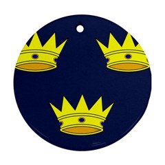 Flag of Irish Province of Munster Round Ornament (Two Sides)