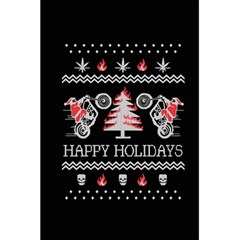 Motorcycle Santa Happy Holidays Ugly Christmas Black Background 5.5  x 8.5  Notebooks