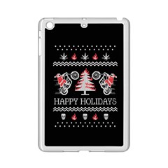 Motorcycle Santa Happy Holidays Ugly Christmas Black Background iPad Mini 2 Enamel Coated Cases