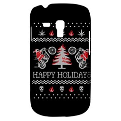 Motorcycle Santa Happy Holidays Ugly Christmas Black Background Galaxy S3 Mini