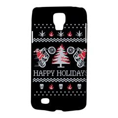 Motorcycle Santa Happy Holidays Ugly Christmas Black Background Galaxy S4 Active