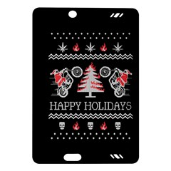 Motorcycle Santa Happy Holidays Ugly Christmas Black Background Amazon Kindle Fire HD (2013) Hardshell Case