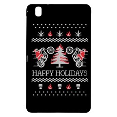 Motorcycle Santa Happy Holidays Ugly Christmas Black Background Samsung Galaxy Tab Pro 8.4 Hardshell Case