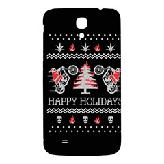 Motorcycle Santa Happy Holidays Ugly Christmas Black Background Samsung Galaxy Mega I9200 Hardshell Back Case