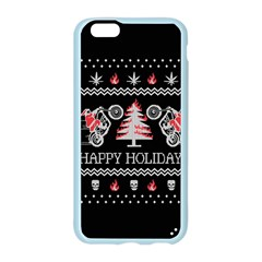 Motorcycle Santa Happy Holidays Ugly Christmas Black Background Apple Seamless iPhone 6/6S Case (Color)