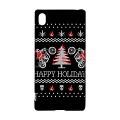 Motorcycle Santa Happy Holidays Ugly Christmas Black Background Sony Xperia Z3+