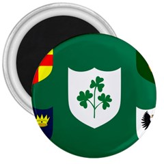 Ireland National Rugby Union Flag 3  Magnets