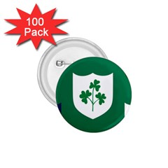 Ireland National Rugby Union Flag 1.75  Buttons (100 pack)