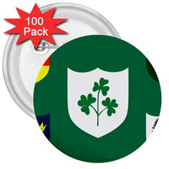 Ireland National Rugby Union Flag 3  Buttons (100 pack)