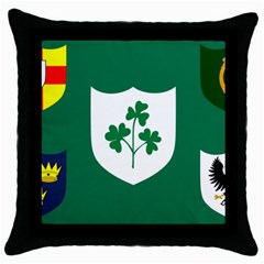 Ireland National Rugby Union Flag Throw Pillow Case (Black)
