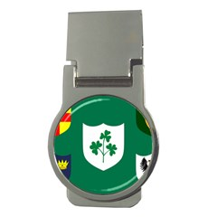 Ireland National Rugby Union Flag Money Clips (Round)