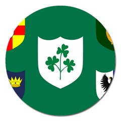 Ireland National Rugby Union Flag Magnet 5  (Round)