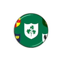 Ireland National Rugby Union Flag Hat Clip Ball Marker (4 pack)