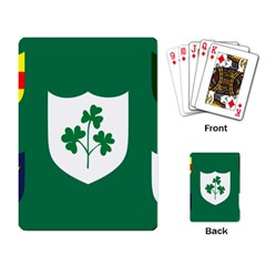 Ireland National Rugby Union Flag Playing Card