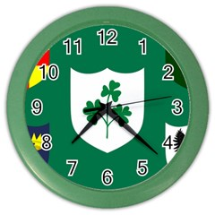 Ireland National Rugby Union Flag Color Wall Clocks