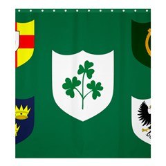 Ireland National Rugby Union Flag Shower Curtain 66  x 72  (Large)