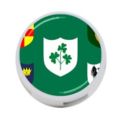 Ireland National Rugby Union Flag 4-Port USB Hub (Two Sides)