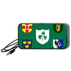 Ireland National Rugby Union Flag Portable Speaker (Black)