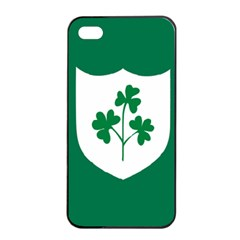 Ireland National Rugby Union Flag Apple iPhone 4/4s Seamless Case (Black)