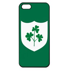 Ireland National Rugby Union Flag Apple iPhone 5 Seamless Case (Black)