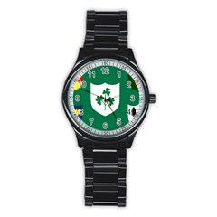 Ireland National Rugby Union Flag Stainless Steel Round Watch