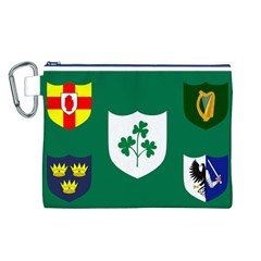 Ireland National Rugby Union Flag Canvas Cosmetic Bag (L)