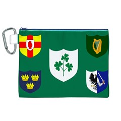 Ireland National Rugby Union Flag Canvas Cosmetic Bag (XL)