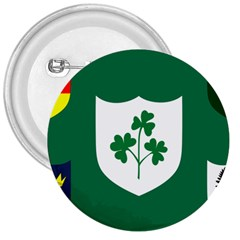 Ireland National Rugby Union Flag 3  Buttons