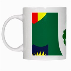 Ireland National Rugby Union Flag White Mugs