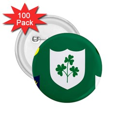 Ireland National Rugby Union Flag 2.25  Buttons (100 pack)