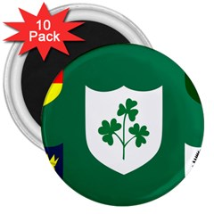 Ireland National Rugby Union Flag 3  Magnets (10 pack)