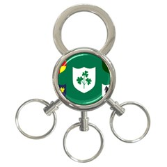 Ireland National Rugby Union Flag 3-Ring Key Chains