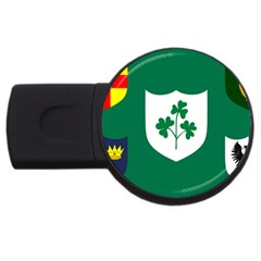 Ireland National Rugby Union Flag USB Flash Drive Round (2 GB)