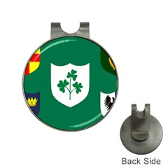 Ireland National Rugby Union Flag Hat Clips with Golf Markers